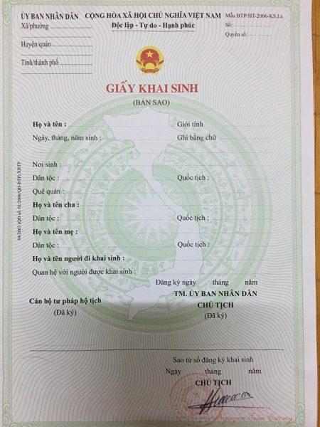 Đăng ký bổ sung tên cha trong giấy khai sinh của con